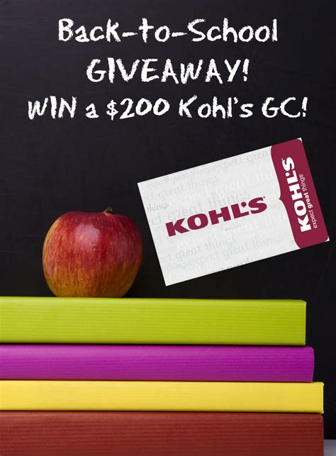 Kohl S Giveaway - 200 kohl s gift card giveaway take time for style
