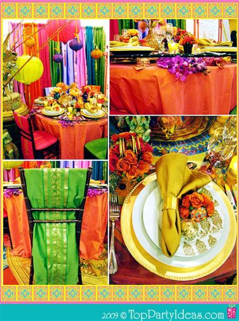 Indian Themed Decor by Vibrant Indian Theme Table Decor Place