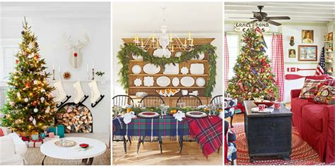 home interior christmas decorations 30 best christmas home tours houses decorated for