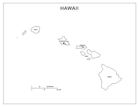 coloring page map of hawaii hawaii labeled map