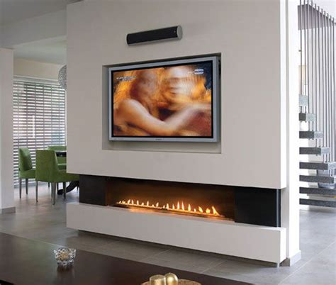Tv Gas Fireplace Ideas by 1000 Ideas About Linear Fireplace On Gas