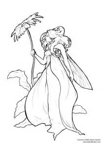 fairies coloring pages enchanted designs mermaid free
