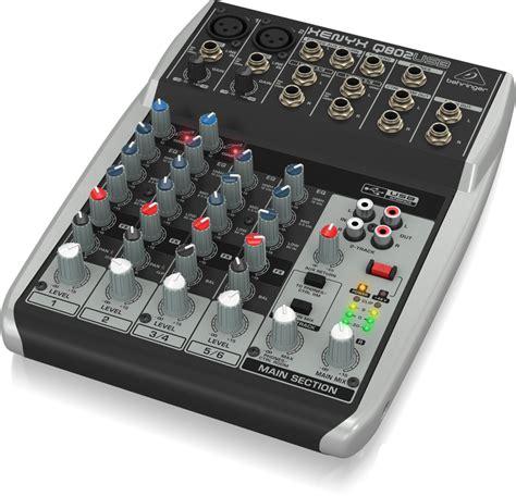Behringer Mixer Xenyx Q802usb behringer xenyx q802usb 8 channel 2 mixer usb audio