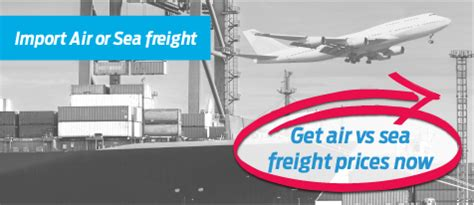 air vs sea freight quote instant for importing into the usa