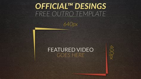 template photoshop outro worn 2d outro template photoshop 2d outro youtube