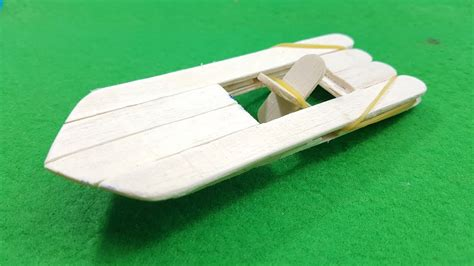 rubber band boat how to make an elastic band paddle boat youtube