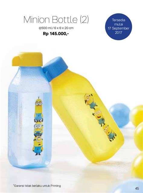 Minion Bottle Promi Tupperware Termurah 087837805779 harga promo tupperware 2017 bulan september