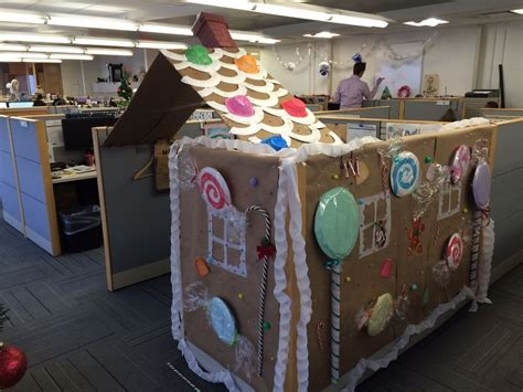 gingerbread house office cubicle decorations cubicle or gingerbread house ipc office photo glassdoor