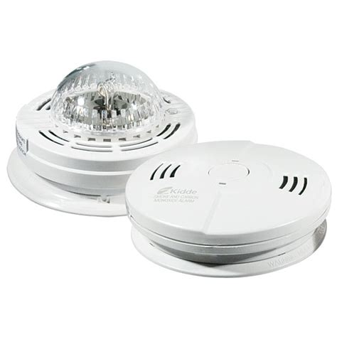 strobe light smoke alarms maxiaids kidde combo carbon monoxide and smoke alarm