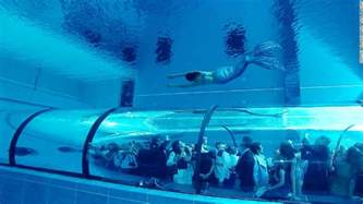 Best Backyard Water Slide Dare To Dive Into The World S Deepest Pool Cnn Com