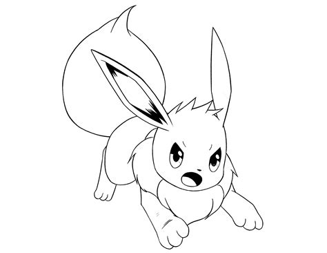 coloring pages pokemon eevee eevee pokemon coloring pages coloring home