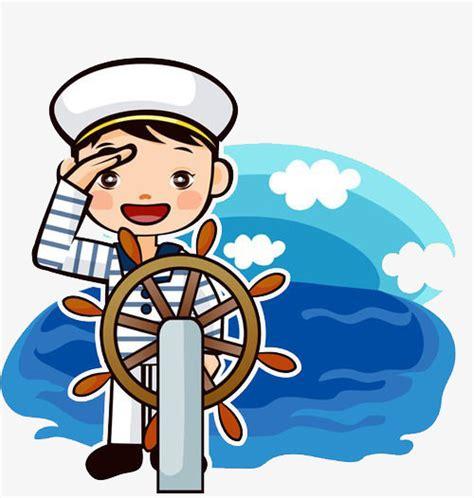 barco marinero dibujo marinero salute dibujo a mano de dibujos animados salute