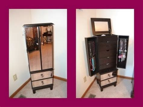 Hayworth Jewelry Armoire Review Hayworth Jewelry Armoire In Espresso Youtube