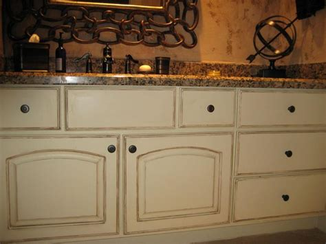 how to distress cabinets with stain cabinets bathroom