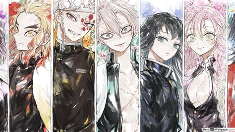 demon slayer kimetsu  yaiba anime collab hd wallpaper
