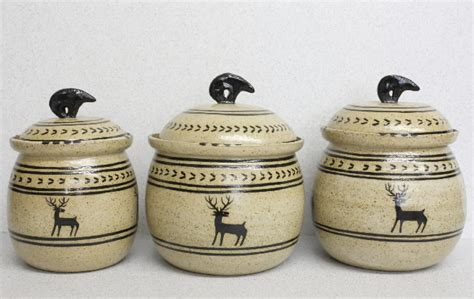 pottery kitchen canister sets ceramic canisters sets for the kitchen