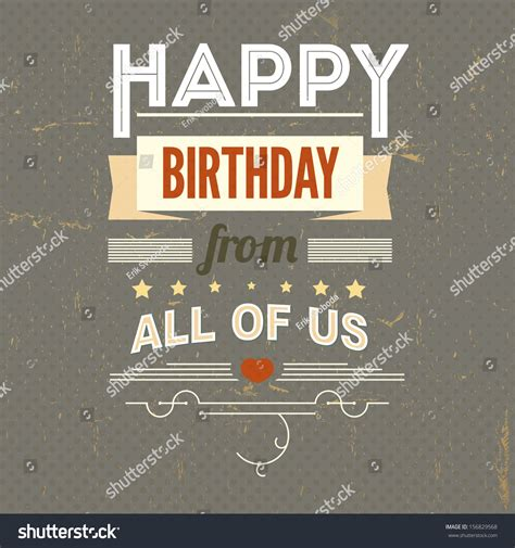 happy birthday vintage design happy birthday typography vintage poster grunge stock