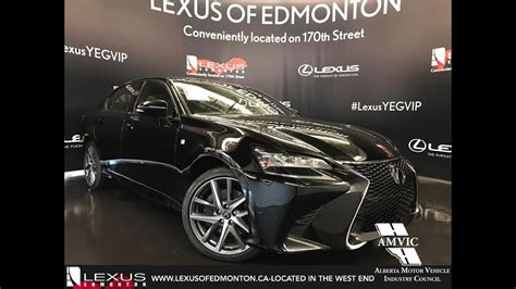 lexus sport 2017 black 2017 black lexus gs 350 awd f sport series 2 in depth