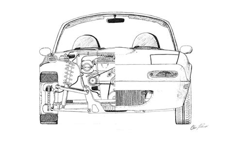 miata drawing miata cutaway drawing i did mx 5 miata forum miata mx5