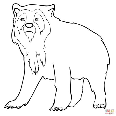 spectacled bear coloring page spectacled bear drawing www pixshark com images