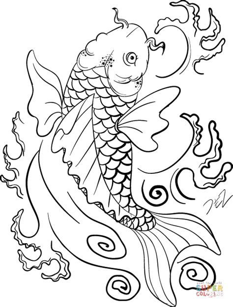 koi fish coloring pages koi fish coloring page free printable coloring pages