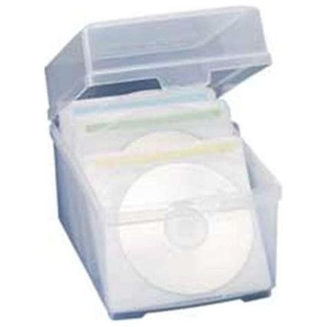 cd storage container compucessory cd dvd storage box plastic polypropylene