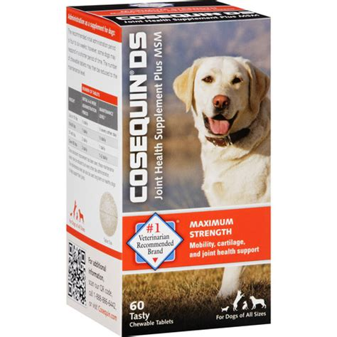 cosequin ds for dogs cosequin ds joint health supplement plus msm for dogs tablets 60 count walmart