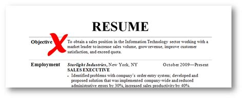Resume objective examples 2015