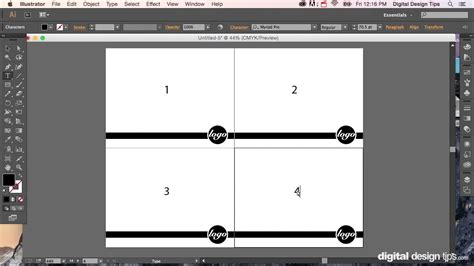 layout presentation illustrator how to make a multiple page layout in adobe illustrator
