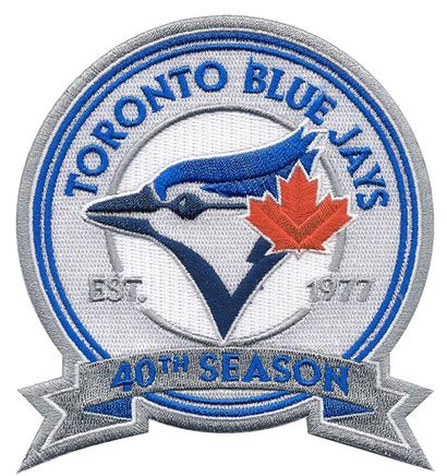 Kaos Toronto Blue Jays Logo 11 jays to wear a 40th season patch next year bluebird banter