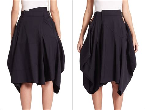 asymmetrical draped skirt loose fitting black asymmetrical hybrid shorts skirt
