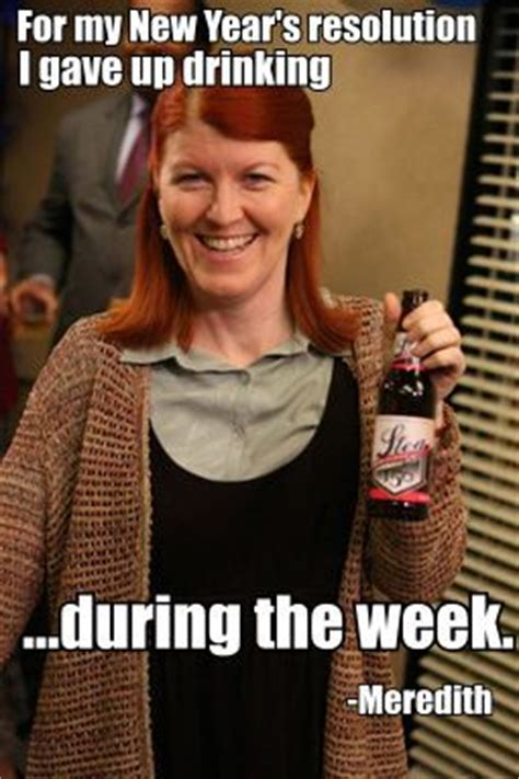 Meredith Meme - booze resolutions drinking in america