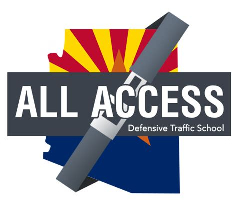 defensive driving school logo about all access defensive traffic school