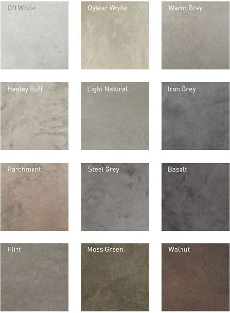 cement paint colors lazenby recommended polished concrete colours detail