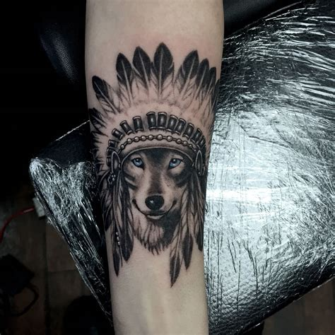 headdress tattoo wolf headdress by mckee at twisted image