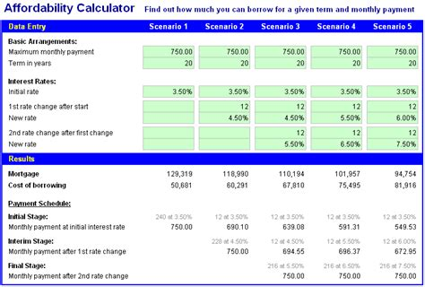 house loan affordability calculator image of free excel mortgage calculator spreadsheet