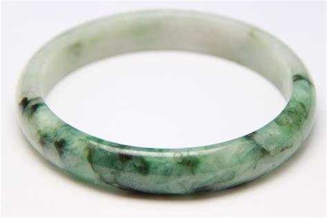 Jade Bangle grade a large white mixed green jade jadeite bangle g002