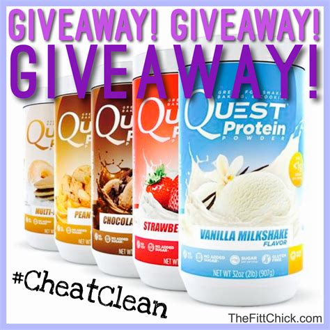 Protein Powder Giveaway - quest protein powder giveaway thefittchick