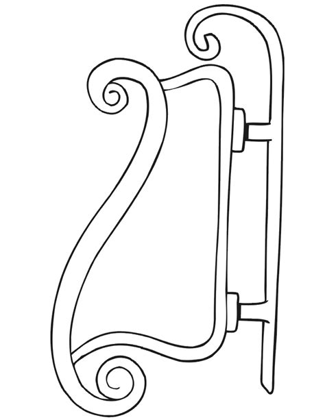 christmas sleigh coloring pages