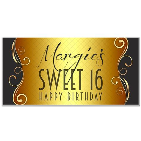 sweet sixteen banners decorations sweet sixteen sweet sixteen birthday banner birthday banner black and