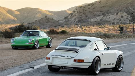 singer porsche wallpaper 1366x768 singer porsche 911 white duo desktop pc and mac