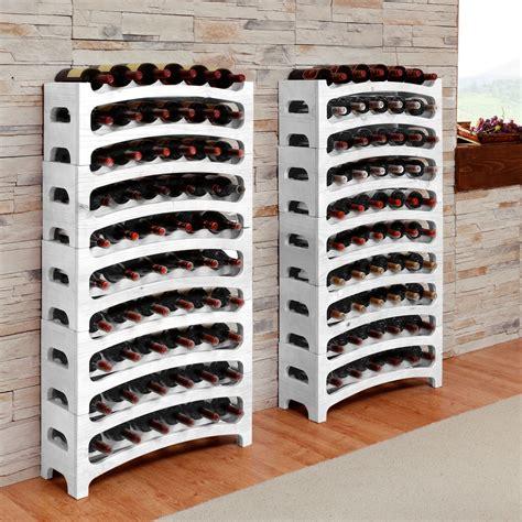 scaffale portabottiglie portabottiglie vino bianco bouquet in legno colore bianco