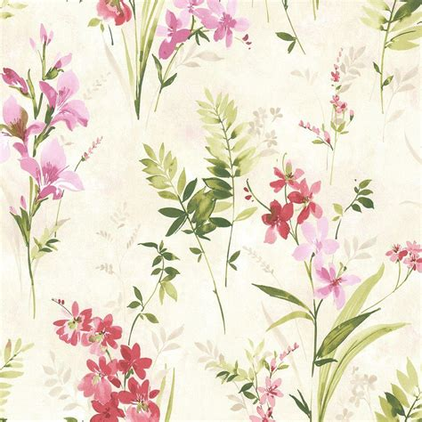 Home Depot Bedroom Paint Ideas brewster driselle pink floral wallpaper 2686 21627 the