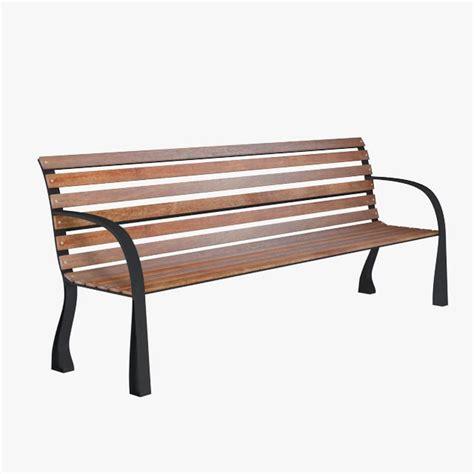 3d bench 3d park bench