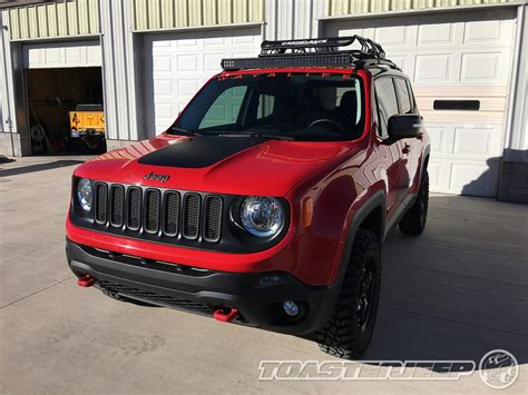 jeep renegade lights jeep renegade daystar 40 quot kc led light bar installation