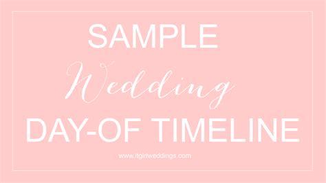 Wedding Day Timeline by Sle Wedding Day Of Timeline It Weddings