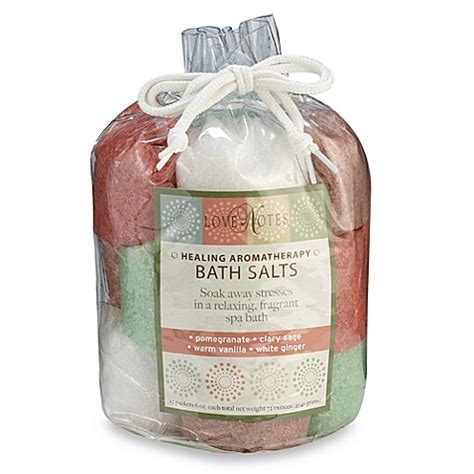 bed bath and beyond aromatherapy love notes healing aromatherapy quot warm quot bath salts tote