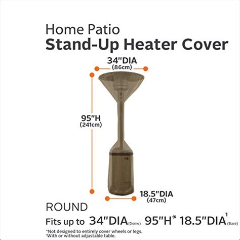Stand Up Patio Heater Classic Accessories Hickory Heavy Duty Stand Up Patio Heater Cover Durable And Water Resistant