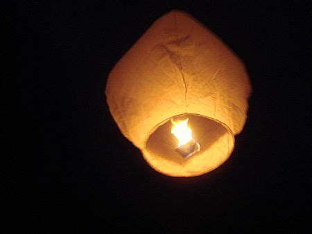 Make Flying Paper Lanterns - sky lanterns