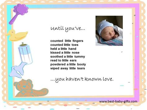baby poems for baby showers until you ve you t known baby quotes